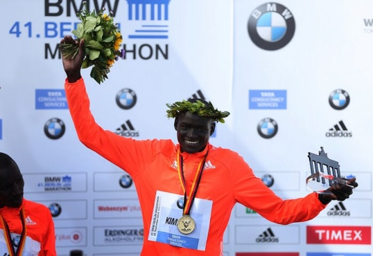 Dennis Kimetto, 2014 Marathon World Record Holder, Berlin, Germany