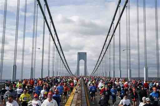 Runners on the Verazzano Bridge, Staten Island