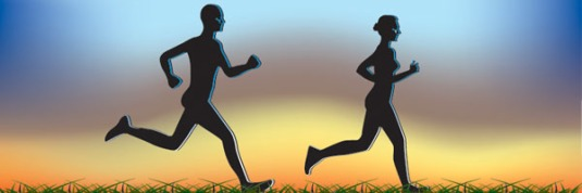 running ahead