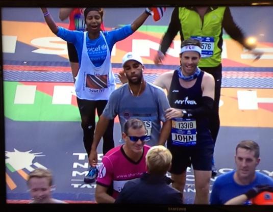 Caught on camera @ the TCS NYC Marathon finish line