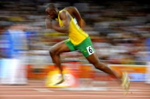 Usain Bolt, 3x Olympic champion 100m, 200m