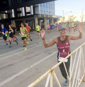 me @ around mile 15.5 in Chicago's medical district